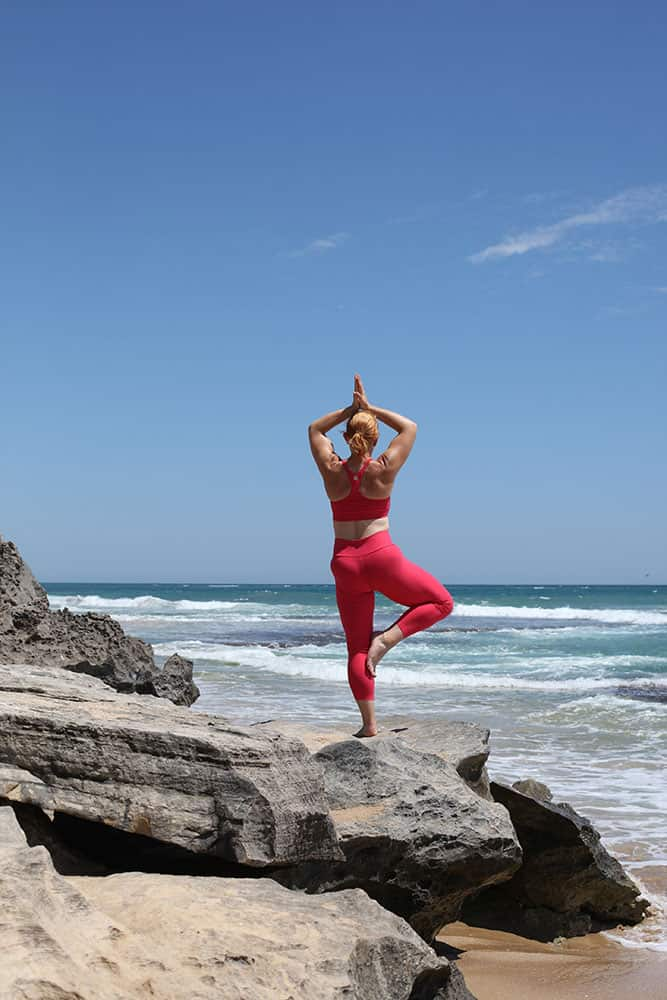 Debbi Biggs, The PT Practioner in a Zen Pose after a hard work out training session